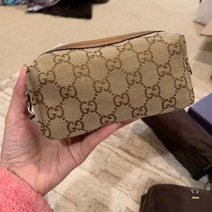 NWT Authentic Woven GG Small Cosmetic Purse